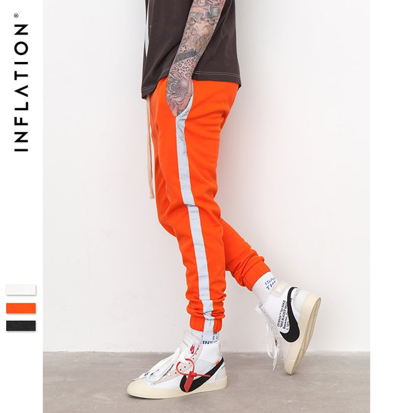 INFLATION Striped Reflective Joggers