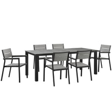 Load image into Gallery viewer, Maine 7 Piece Outdoor Patio Dining Set