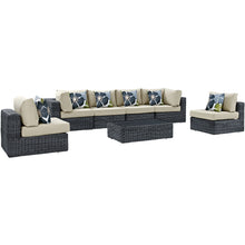Load image into Gallery viewer, Summon 7 Piece Outdoor Patio Sunbrella® Sectional Set