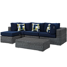 Load image into Gallery viewer, Summon 5 Piece Outdoor Patio Sunbrella® Sectional Set