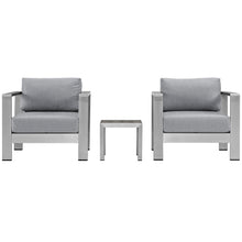 Load image into Gallery viewer, Shore 3 Piece Outdoor Patio Aluminum Set