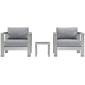 Shore 3 Piece Outdoor Patio Aluminum Set