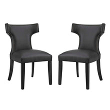 Load image into Gallery viewer, Curve Dining Side Chair Vinyl Set of 2