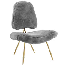Load image into Gallery viewer, Ponder Upholstered Sheepskin Fur Lounge Chair