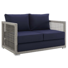 Load image into Gallery viewer, Aura Outdoor Patio Wicker Rattan Loveseat