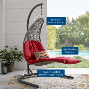 LANDSCAPE Hanging Chaise Lounge Outdoor Swing Chair