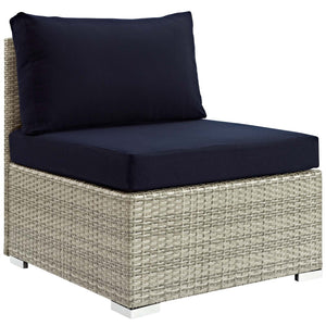 Repose Sunbrella® Fabric Outdoor Patio Armless Chair
