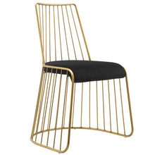 Load image into Gallery viewer, Rivulet Gold Stainless Steel Performance Velvet Dining Chair