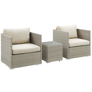 Repose 3 Piece Outdoor Patio Sunbrella® Sectional Set