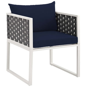 Stance Outdoor Patio Aluminum Dining Armchair