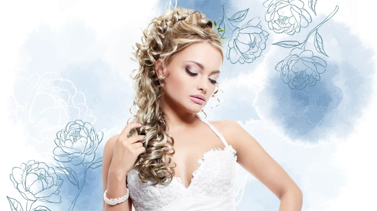 Curly ponytail with hair extensionist