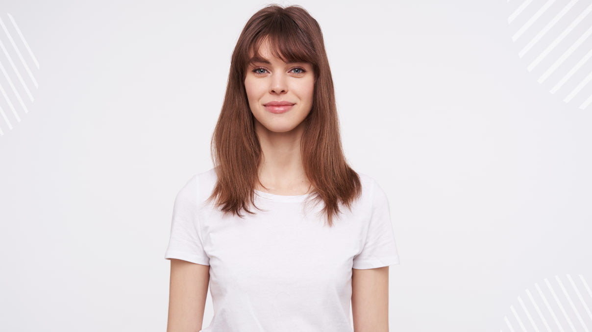 Hairstyling for short hair with bangs: