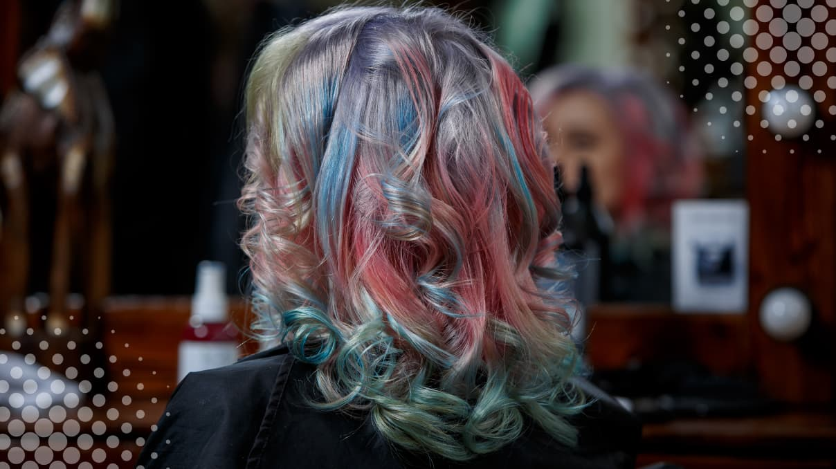 How to care for rainbow hair color?