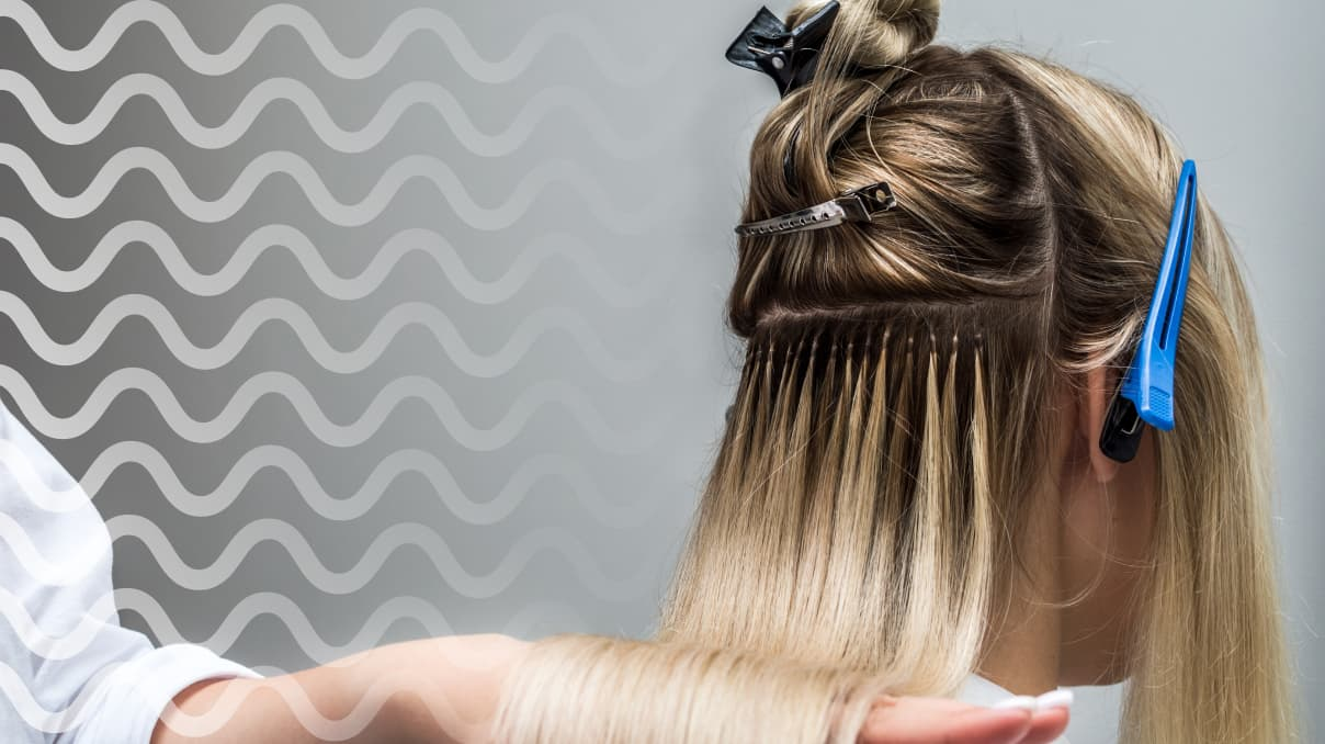 black ombre hair extensions