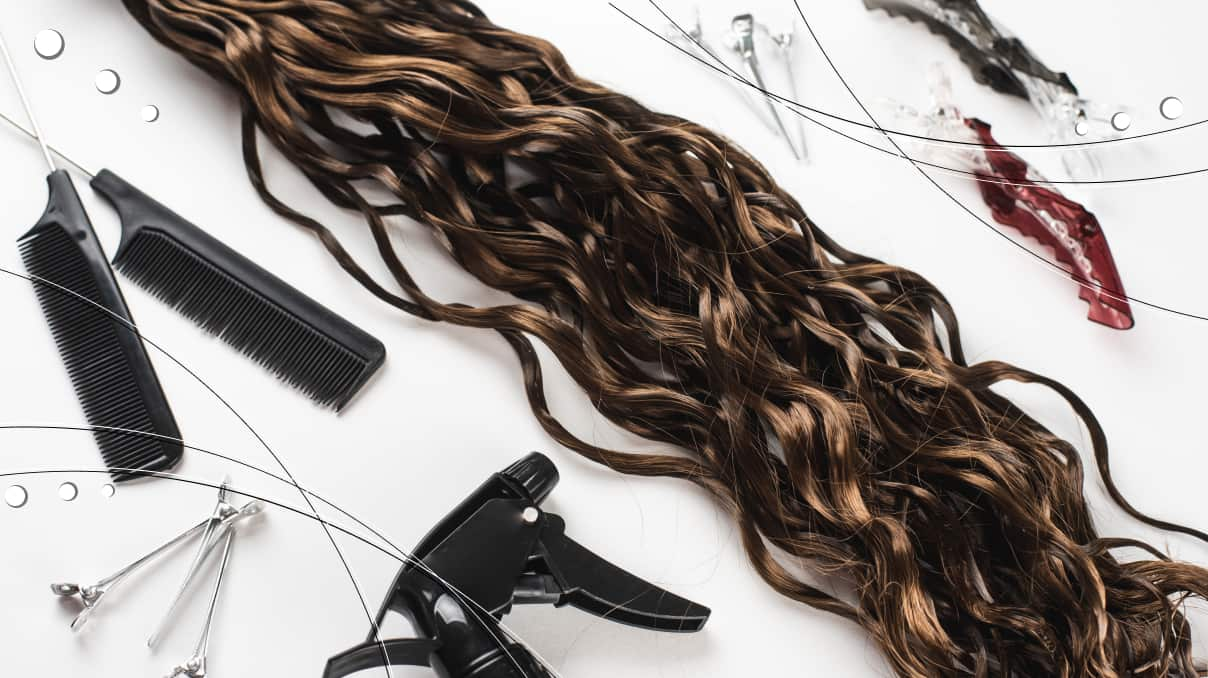 Which curling iron is suitable for hair extensions?