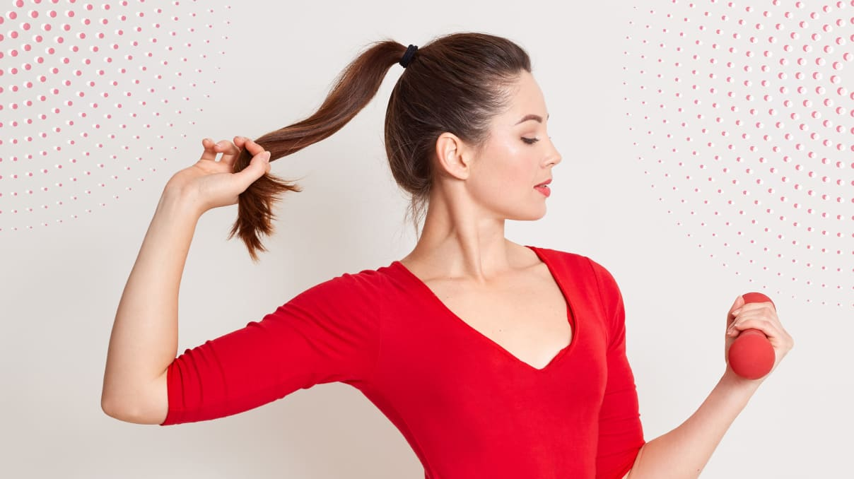 Classic ponytail with hair extensions