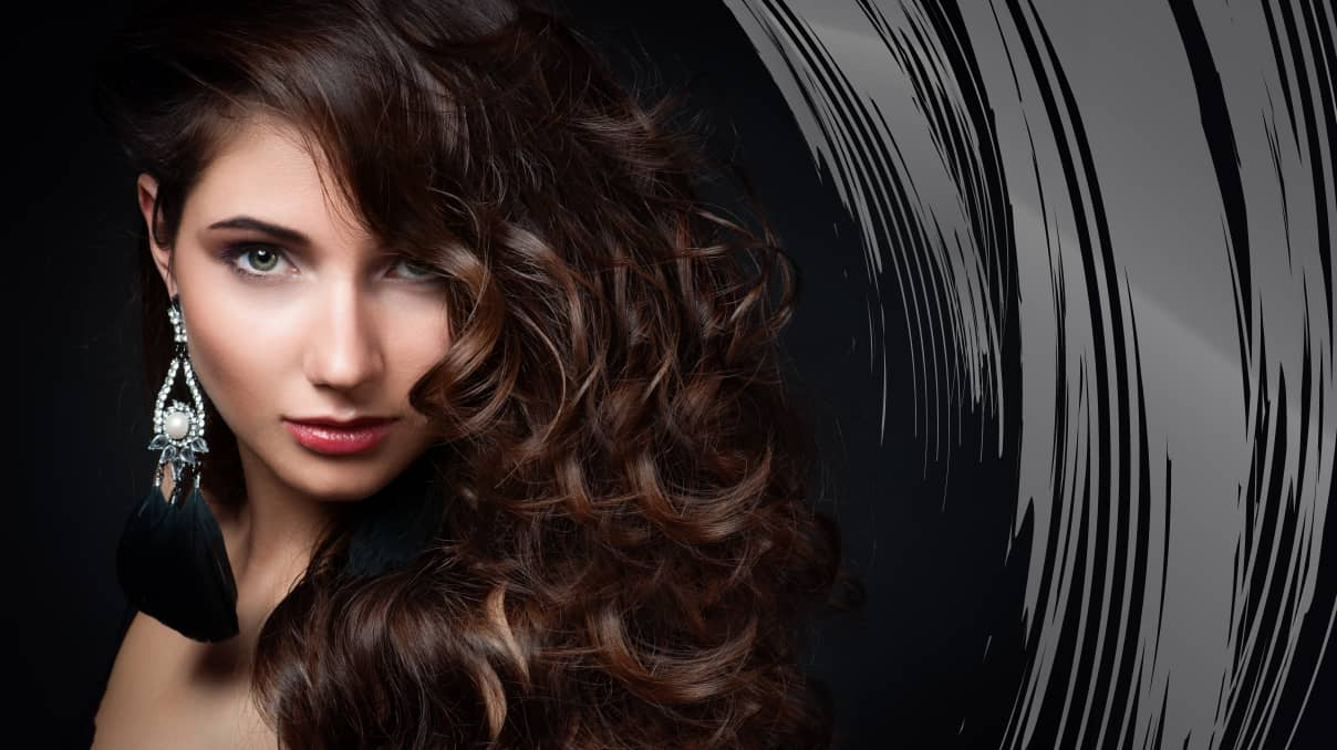 Hairstyle side curls