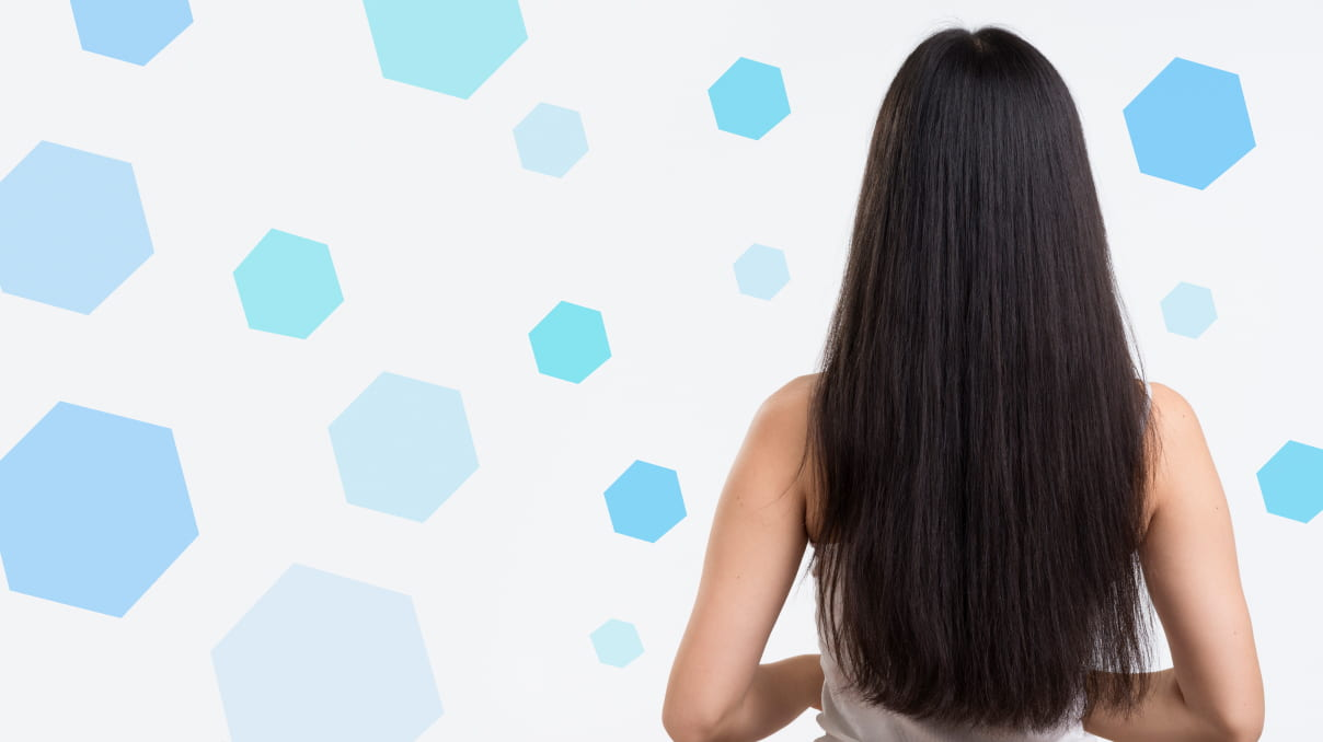 Long hair illusion with clips in