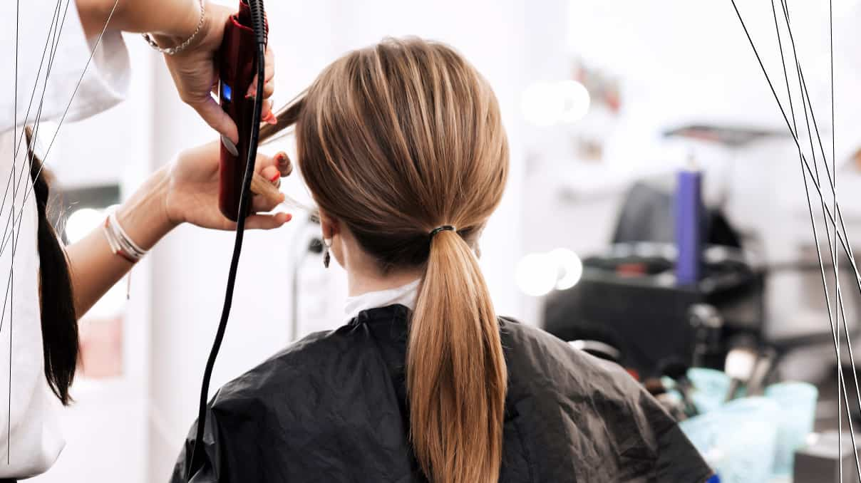 Low ponytail for short hair