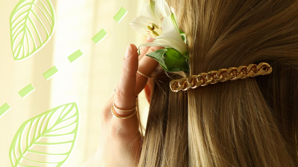 Golden claw hair clips