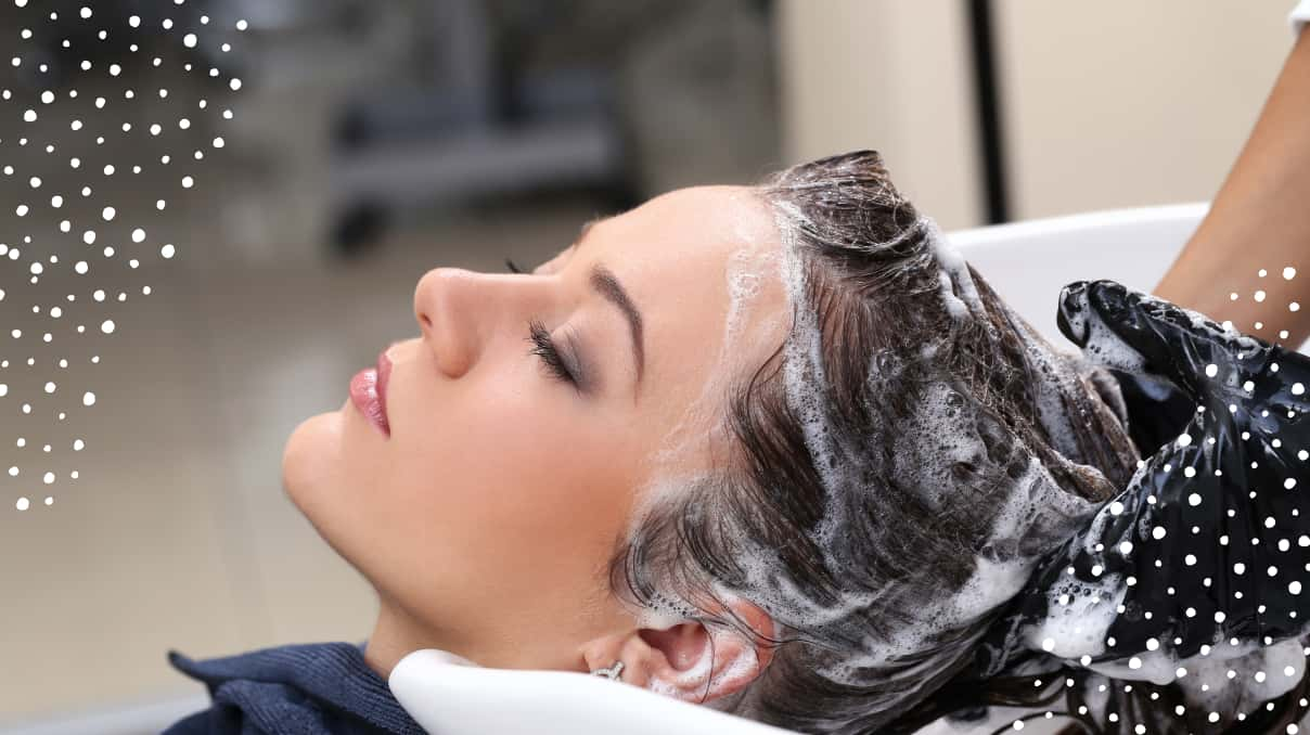 take care of damaged hair in a beauty salon
