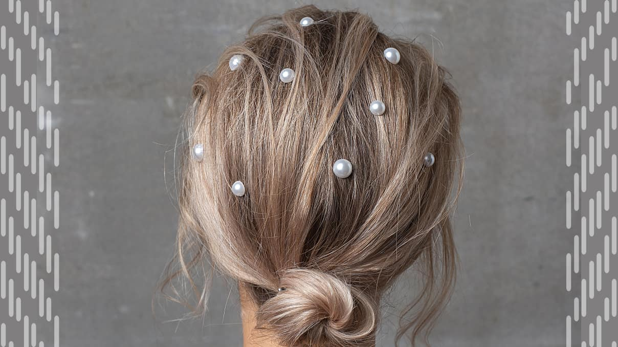 Hairstyles with pearl bobby pins for wedding