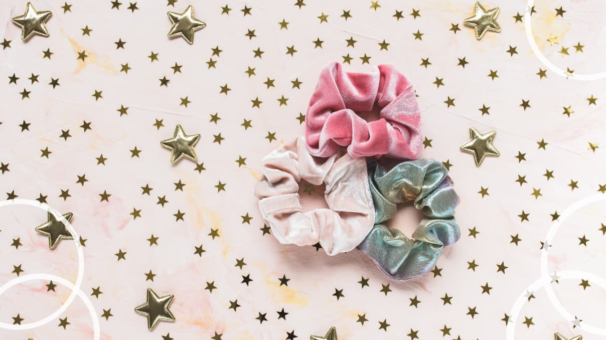 Top scrunchie for thick hair