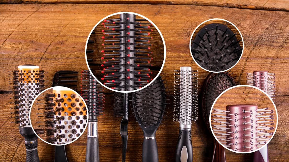 kinds of hair brushes