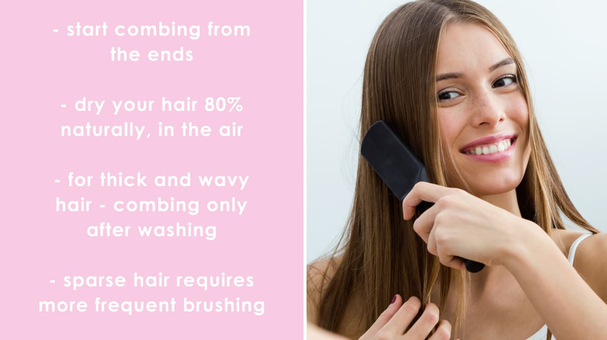 how to combing your hair