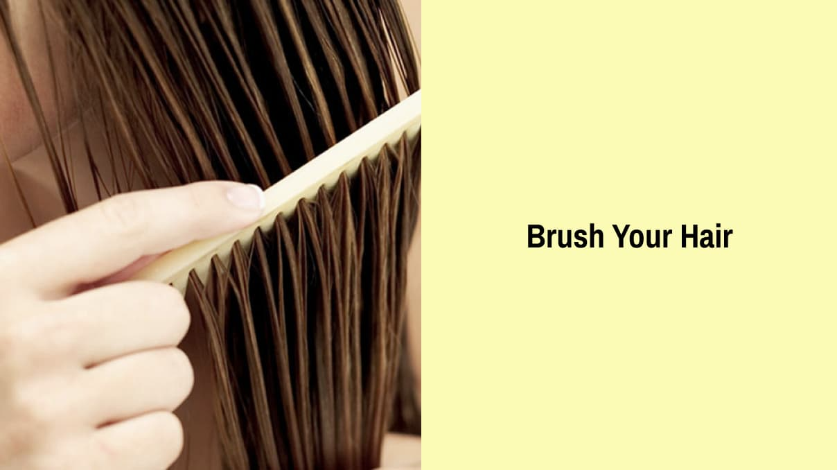 Brush your hair for a waterfall braid