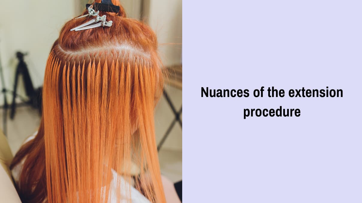 Nuances of the extension procedure for curly hair