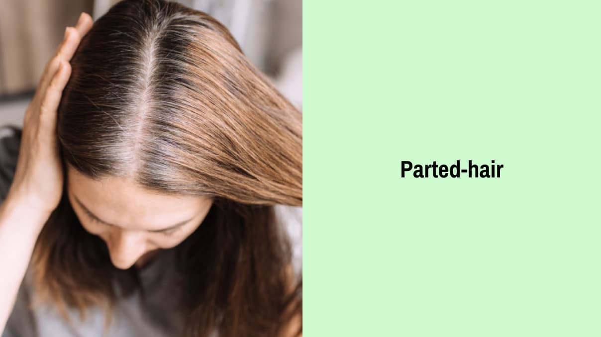 Parted-hair for school hairstyle