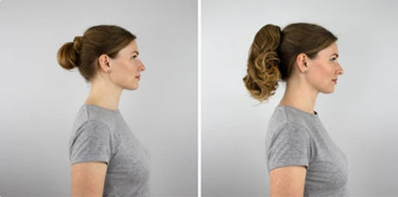 JuvaBun Claw Clip Ponytail 12' example