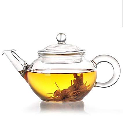 Small glass teapot with strainer 250 ml - Bristol Chai Project - Loose leaf tea