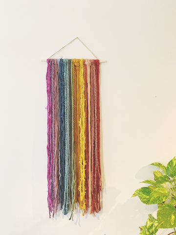 Small Bright Rainbow Fiber Hanging