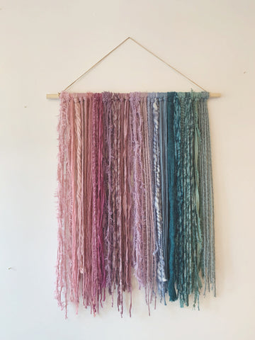 Medium Muted Colored Fiber Hanging