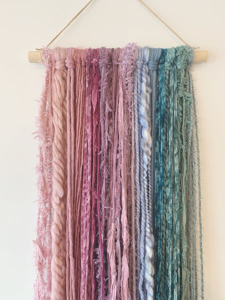 Small Muted Colored Fiber Hanging