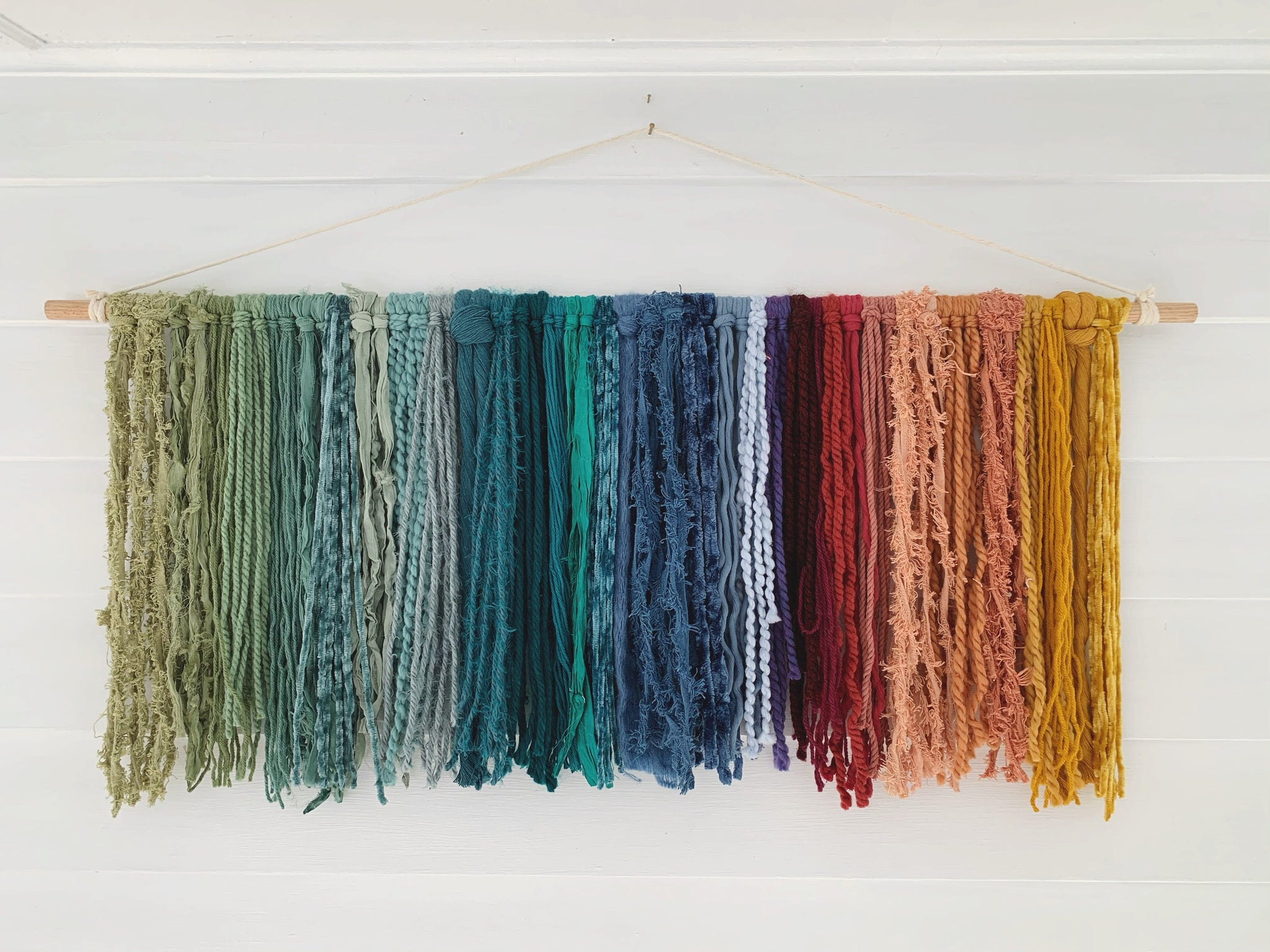 Large Rainbow Fiber Hanging (4ft x 1ft)