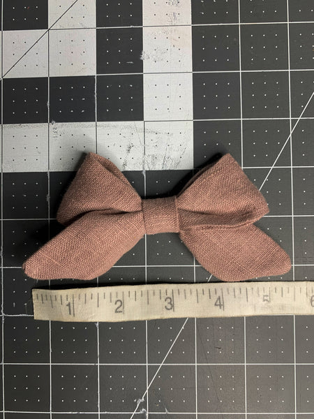Zoey Linen Bow in Gingerbread