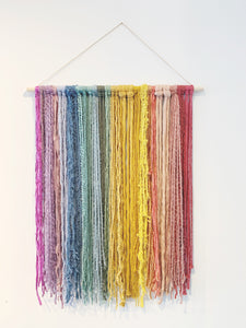 Medium Bright Rainbow Fiber Hanging (2ft x 3ft)