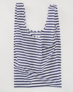 BAGGU- Large Reusable Tote in Sailor Stripe