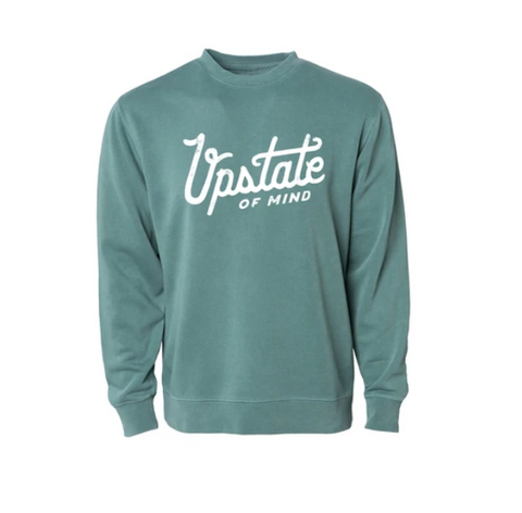 Compas Life- Upstate Crewneck in Forest Wash