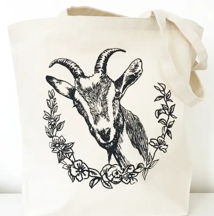 The Coin Laundry- Floral Goat Tote