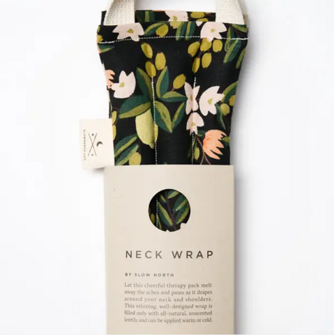 Slow North- Neck Wrap in Citrus Floral
