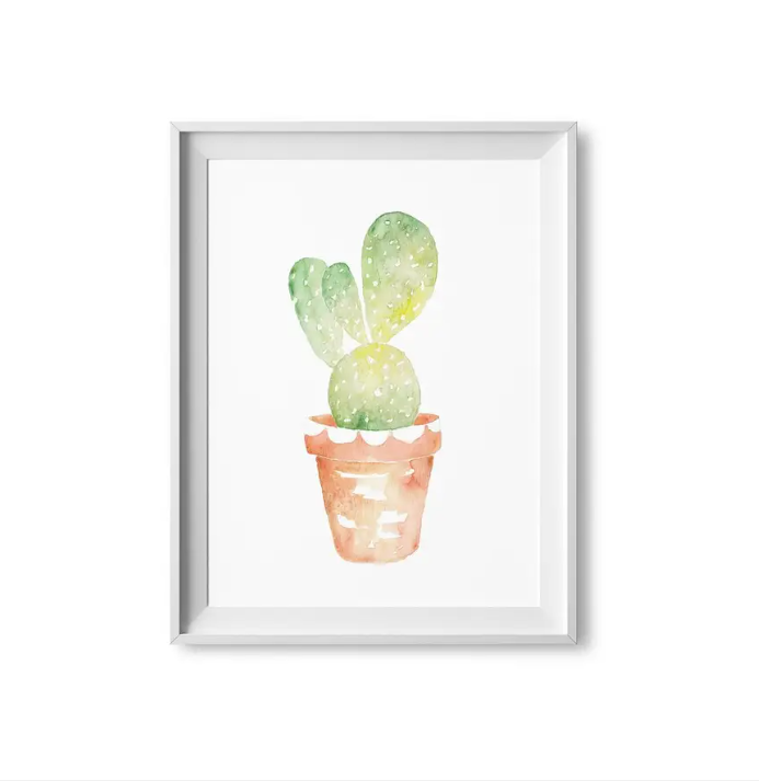 "Lilac Paperie- 8""x10"" Prickly Pear Cactus Print"