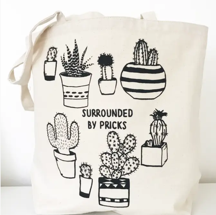 The Coin Laundry- Surrounded by Pricks Tote