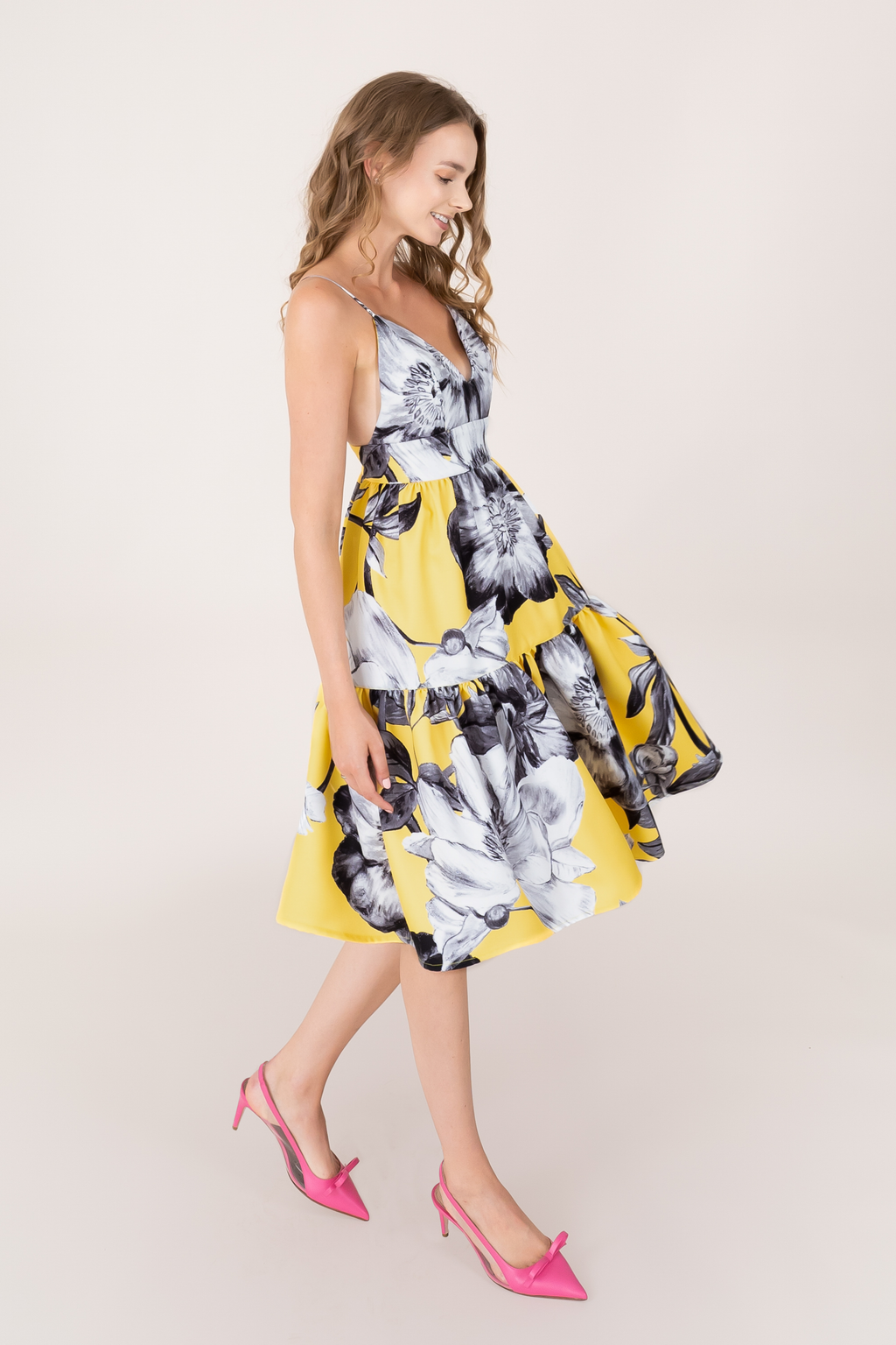 SS Floral Print Buttercup Dress - Short