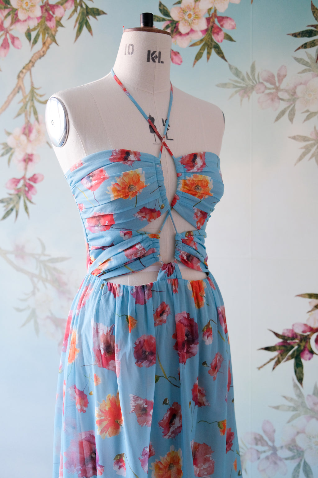 SS Cotton Dress - Blue