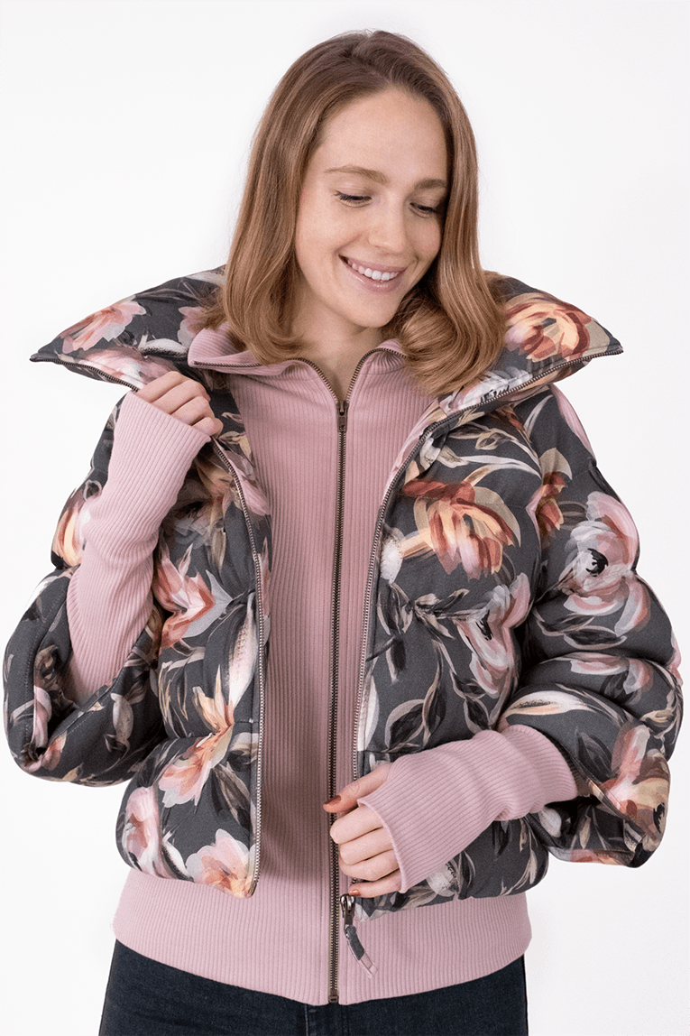 AW Puffer Winter Coat - Floral Green_01