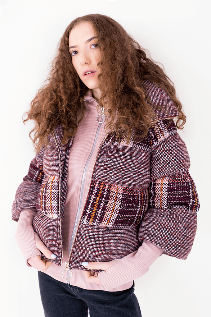 AW Puffer Winter Coat - Red Checked_02